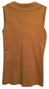 Cache Silk Scoop Back Top Camel
