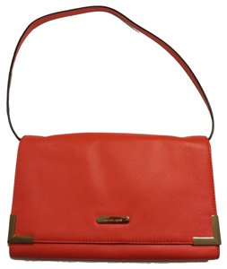 Michael Kors Mk Beverly Mandarin Orange Clutch
