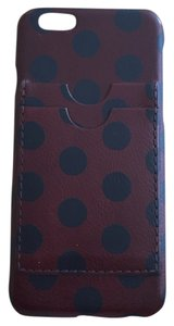 Madewell Polka Dot Leather Credit Card Carryall Case For iPhone 6 6S