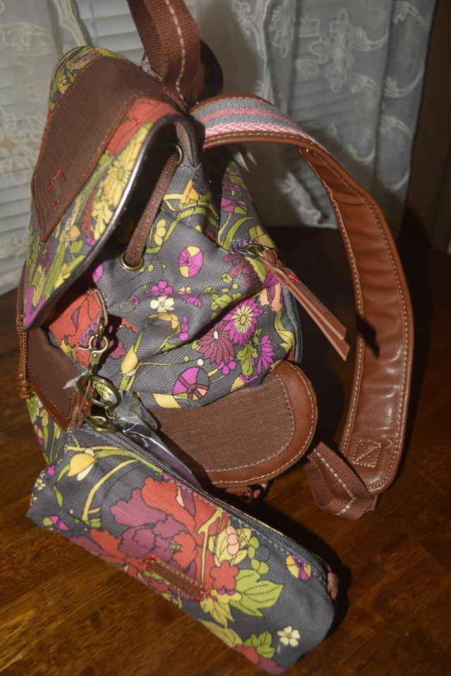 abfd9d98f Sakroots Slate Flower Power Canvas Backpack - Tradesy