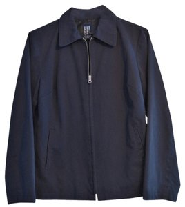 Gap 100% Cotton Blue Collar Silver Hardware Quality Navy Jacket