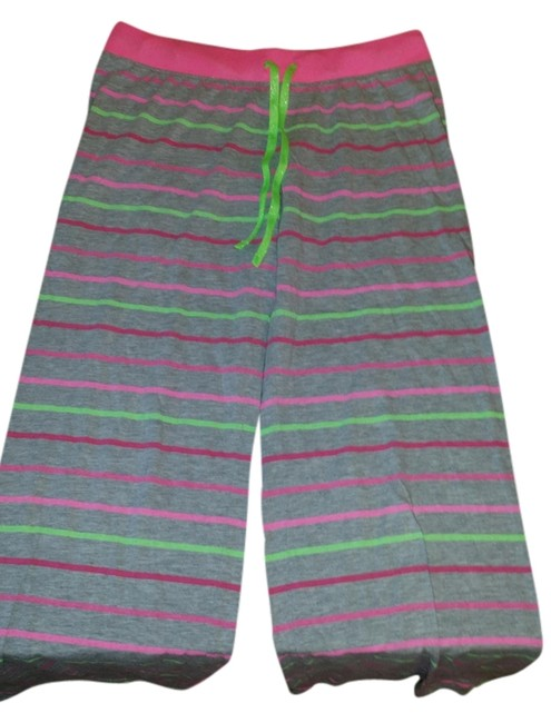 Social Occasions Relaxed Pants Grey, Pink & Neon Green