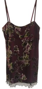 Nanette Lepore short dress Maroon 90's Vintage Velvet Floral on Tradesy
