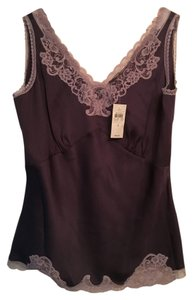 Ann Taylor Lace Trim Top Lavender