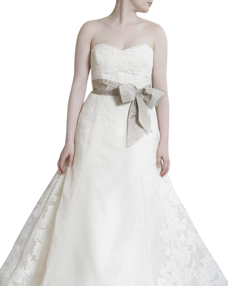 Vera Wang Ivory Satin Organza and Lace Whitney Vintage Wedding Dress ...