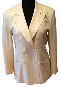 GUESSILK Vintage BUTTER COLOR Blazer