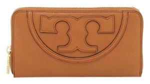 Tory Burch NEW!!! Tags TORY BURCH Tan All T Leather Zip Around Continental Wallet Clutch Bag NWT