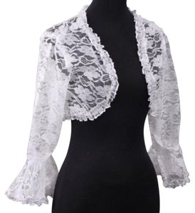 White Lace Bridal Bolero Jacket Free Shipping