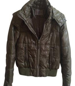 Vero Moda Puff Puffy Hooded Army Hunter Green Jacket