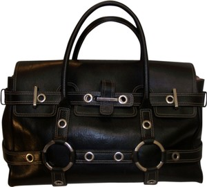 Luella Bartley Giselle Large Leather Tote in Black