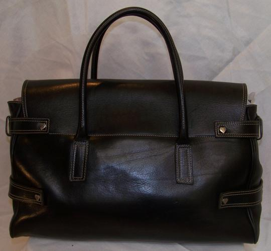 Luella Bartley Giselle Large Leather Tote in Black Image 1