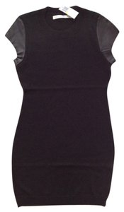 Susana Monaco Leather Trim Dress