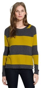 Madewell Striped Yellow Grey Sweater