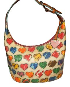 Dooney & Bourke And Pink Hearts Scribble Handbag Satchel in Multi Color