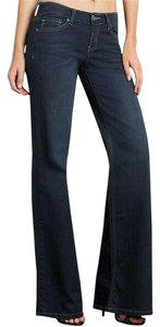 Revolt Jeans Date Night Night Out Casual Evening Plus-size Trouser/Wide Leg Jeans-Dark Rinse