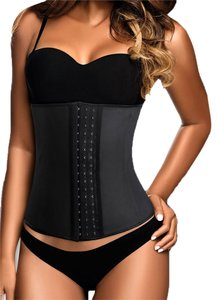 Other Black Women Latex Rubber Waist Trainer Cincher Underbust Body Shaper Shapewear Medium