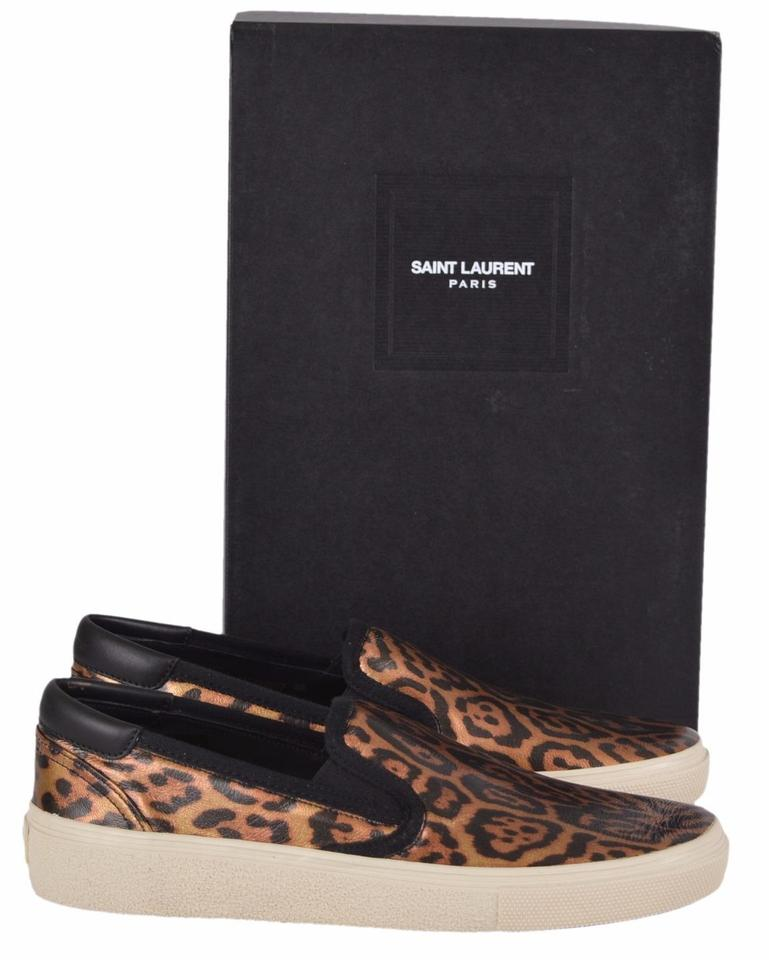 c8a14143 Saint Laurent Brown Yves Ysl Women's Leather Leopard Skate 20 39 Sneakers  Size US 9 Regular (M, B) 51% off retail