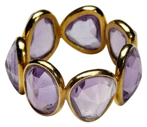 Condemned to Be Free 18k Yellow Gold Amethyst Rock Candy Eternity Band