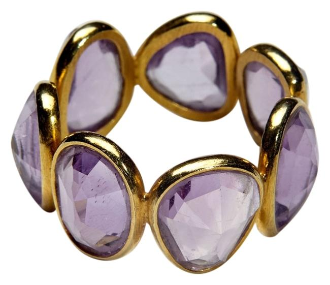 Item - Gold Candy 18k Yellow Amethyst Rock Eternity Band Ring