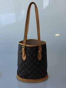 Louis Vuitton Bucket Coated Canvas Shoulder Bag