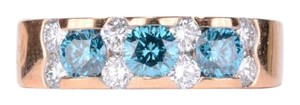 Other 18K Blue & White Diamonds in Pink Gold