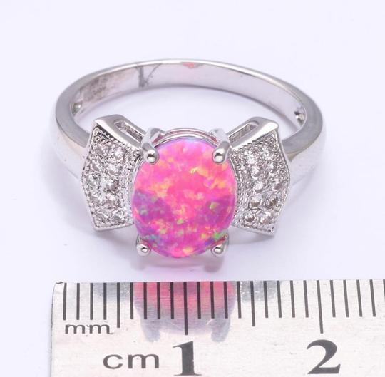 Silver/Pink/White Bogo Free Opal Topaz Bow Tie Fashion Free Shipping Ring Image 1