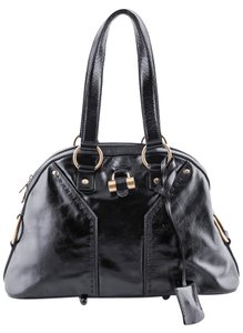 Saint Laurent Patent Leather Satchel in Black