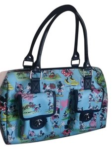 Disney Classic Eclectic Edgy Tote in blue, black