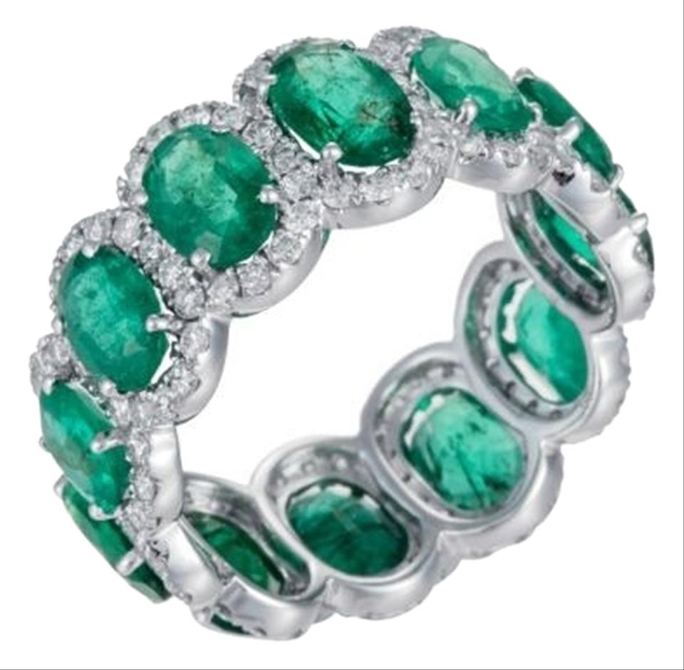 wilsons emerald oscar bands splendid ring brothers products eternity band jewelry platinum circa and heyman diamond estate