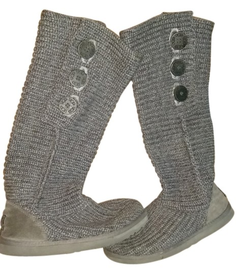 Preload https://img-static.tradesy.com/item/15066853/ugg-australia-grey-knitted-uggs-bootsbooties-size-us-7-regular-m-b-0-1-540-540.jpg