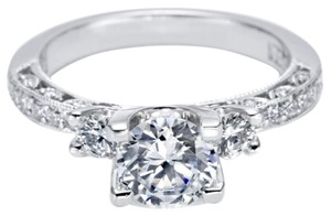 Tacori Tacori Crescent Collection Pave Diamond Platinum Engagement Ring Ht2259 1/2 (size: 6.5)