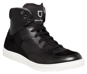 Salvatore Ferragamo Salvatore Ferragamo Robert High Top Men's Sneaker Nero Black