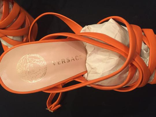 Versace Orange Platforms