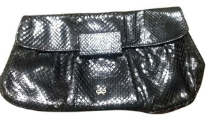 Anya Hindmarch Anaconda Snakeskin Black Clutch