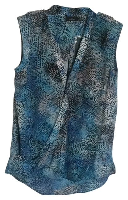 Item - Blue White and Black Tank Top/Cami Size 8 (M)