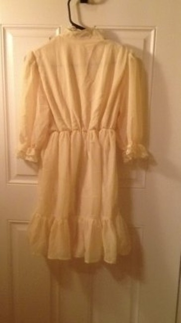 Dorothy Perkins short dress Yellow Vintage Babydoll Lace on Tradesy