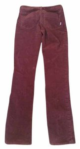 Patagonia Corduroy Straight Leg Straight Pants Burgundy/Cranberry