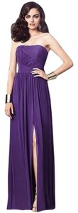 Dessy Full Length Chiffon Strapless Dress