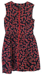 Macy's short dress Navy/Red on Tradesy