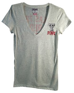 PINK V-neck Texas Tech Ttu T Shirt white , black, red