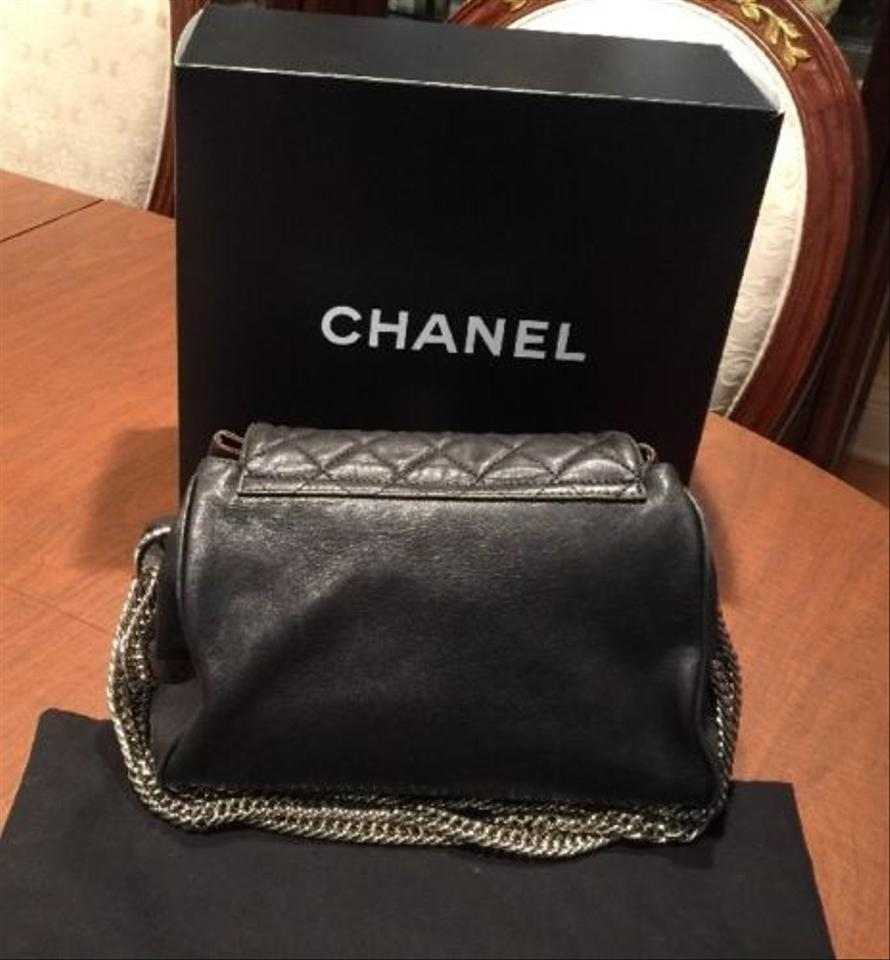 Bijoux Wrap Vintage : Chanel black lambskin bijoux chain wrap around style