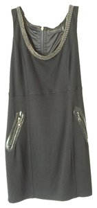 Stella & Jamie Lbd Chain Embellished Rocker Bodycon Dress