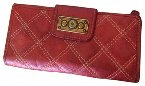 Fossil FOSSIL Red Leather Quilted
