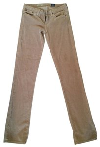 AG Adriano Goldschmied Brown Corduroy Straight Leg Jeans