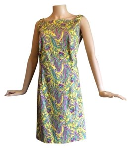 Ralph Lauren short dress Yellow Paisley on Tradesy
