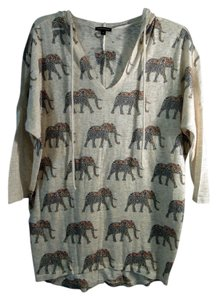 MM Couture Elephants Hood Light Weight Sweater