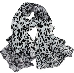 Other White Leopard Print Scarf