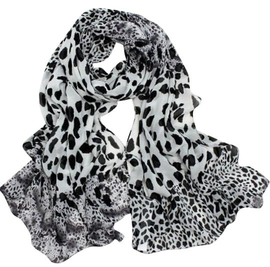 Preload https://item1.tradesy.com/images/glamour-girl-designs-white-leopard-print-scarf-1506885-0-0.jpg?width=440&height=440