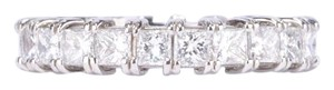 Platinum Princess Cut Diamond Eternity Band