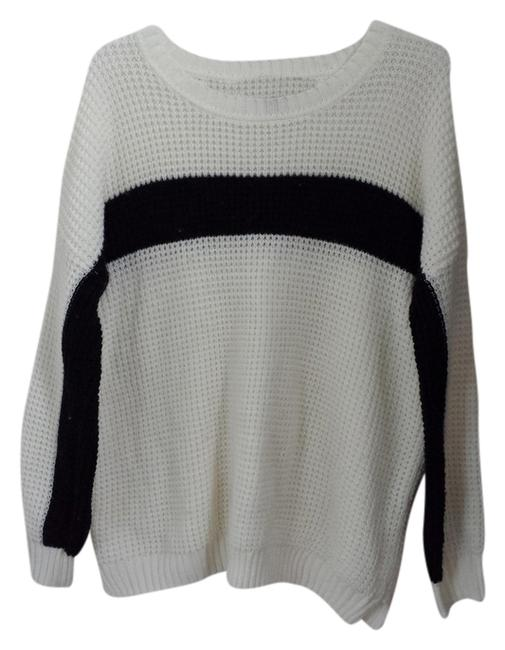Forever 21 Waffle Knit Super Thick Striped Sweater